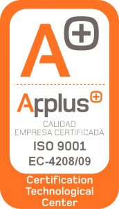 Sello certificado ISO 9001 - Applus
