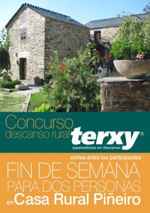 Cartel concurso Terxy en Casa Rural Piñeiro