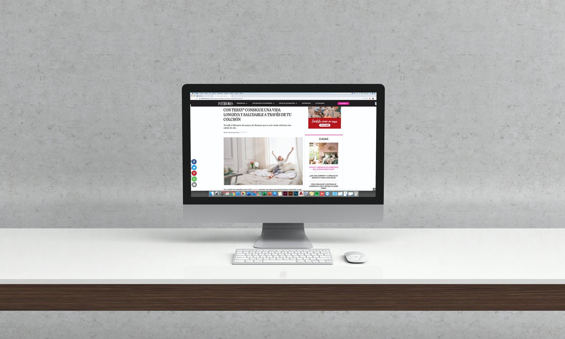 Branded Content De Terxy® En La Revista Interiores Hablando Sobre La Importancia Del Colchón Para Alcanzar Una Vida Mas Saludable